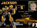 Personalized Transformer Birthday Invitations Transformers Personalized Photo Birthday Party Invitation
