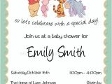 Personalized Winnie the Pooh Baby Shower Invitations Personalized Winnie the Pooh Baby Shower Invitations