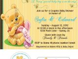 Personalized Winnie the Pooh Baby Shower Invitations Winnie the Pooh theme Custom Baby Shower by