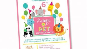 Pet Adoption Party Invitations 95 Best Girl Birthday Party Ideas and themes Images On