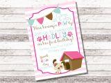 Pet Adoption Party Invitations Girl 39 S Puppy Birthday Invitation 1st 2nd Birthday