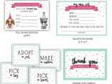 Pet Adoption Party Invitations Pet Adoption Beanie Boo Printable Party Pack Instant