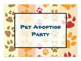 Pet Adoption Party Invitations Pet Adoption Party Paw Print Pattern 5×7 Paper Invitation