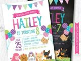 Pet Adoption Party Invitations Puppy Invitation Pet Adoption Party Puppy Birthday Party
