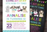Pet Adoption Party Invitations Puppy Invitation Puppy Birthday Party Pet Adoption Party