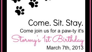 Pet Birthday Party Invitations Keeping My Cents Dog Birthday