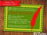 Peter Pan Birthday Invitation Wording Items Similar to Peter Pan Birthday Invitation On Etsy