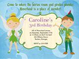 Peter Pan Birthday Invitation Wording Peter Pan Birthday Party Invitations Dolanpedia