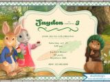 Peter Rabbit Nick Jr Birthday Invitations Nick Jr S Peter Rabbit Birthday Invitation Peter Rabbit