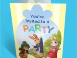 Peter Rabbit Nick Jr Birthday Invitations Peter Rabbit Birthday Party Invitations