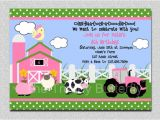 Petting Zoo Birthday Invitation Template Farm Invitation Girls Farm Invitation Pink Farm