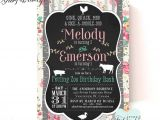 Petting Zoo themed Birthday Party Invitations Petting Zoo Birthday Invitation Farm Animal Birthday Party