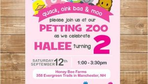 Petting Zoo themed Birthday Party Invitations Petting Zoo Birthday Invitation Petting Zoo by