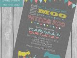 Petting Zoo themed Birthday Party Invitations Petting Zoo Birthday Party Invitation Bunting Banner Farm