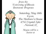 Phd Graduation Party Invitations Female Doctorate Graduation Invitations