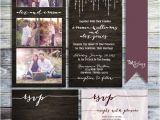 Photo Collage Wedding Invitations Photo Collage Wedding Invitation Rustic Wedding Invitation