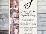 Photo Collage Wedding Invitations Printable Photo Collage Wedding Invitation Monogram Wedding