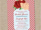 Picnic Bridal Shower Invitations Bridal Shower Invitation Mason Jar Rose Picnic