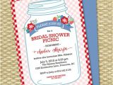 Picnic Bridal Shower Invitations Bridal Shower Picnic Invitation Mason Jar Couples Shower
