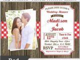 Picnic Bridal Shower Invitations Picnic Bbq Western Invitation Baby Bridal Wedding Shower