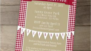 Picnic Bridal Shower Invitations Picnic Invitation