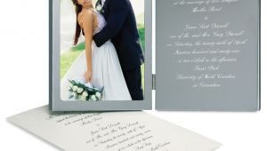 Picture Frame Wedding Invitations Engraved Wedding Invitation Photo Frame Wedding