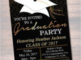 Picture Graduation Party Invitations Editable Graduation Party Invitation High School Graduation