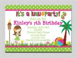 Picture Invitations for Birthday 20 Luau Birthday Invitations Designs Birthday Party