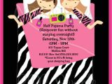Pijama Party Invitation Pajama Party Birthday Invitation Printable or Printed Invite