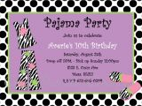 Pijama Party Invitation Pajama Party Birthday Invitation Printable or Printed