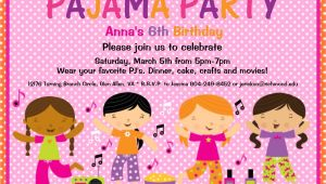 Pijama Party Invitation Pajama Party Birthday Invitation Slumber by