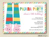 Pijama Party Invitation Pajama Party Invitation Cimvitation