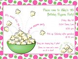 Pijama Party Invitation Sleepover Slumber Party Pajama Party Invitations by