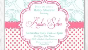 Pink and Aqua Baby Shower Invitations Haute Chocolate S Vendor Listing