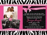 Pink and Black Zebra Baby Shower Invitations Black White Zebra Print Hot Pink Multi Baby Shower