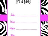 Pink and Black Zebra Baby Shower Invitations Free Printable Zebra Print Baby Shower Invites