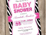 Pink and Black Zebra Baby Shower Invitations Pink and Black Zebra Baby Shower Invitations Cobypic