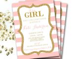 Pink and Gold Baby Shower Invitations Free Pink and Gold Baby Shower Invitation Pink and Gold Shower