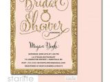 Pink and Gold Bridal Shower Invitations Etsy Bridal Shower Invitation Blush Pink Gold Glitter Printable