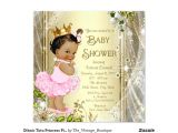 Pink and Gold Princess Baby Shower Invitations Ethnic Tutu Princess Pink Gold Baby Shower Invitation