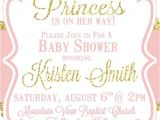 Pink and Gold Princess Baby Shower Invitations Little Princess Baby Shower Invitation Pink and Gold