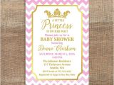 Pink and Gold Princess Baby Shower Invitations Princess Baby Shower Invitation Pink & Gold by Laprintables