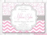 Pink and Gray Bridal Shower Invitations Pink and Gray Baby Shower Invitations – Gangcraft
