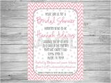 Pink and Gray Bridal Shower Invitations Pink and Grey Bridal Shower Invitation Printable by