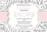 Pink and Grey Baby Shower Invites Pink and Gray Baby Shower Invitations