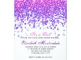 Pink and Lavender Baby Shower Invitations Baby Shower Invitation Pink and Purple Glitter