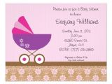 "Pink and Lavender Baby Shower Invitations Pink & Purple Baby Shower Invitation 4 25"" X 5 5"