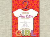 Pink and orange Baby Shower Invitations Baby Shower Pink orange Fashion Invitation Girl Sie Print