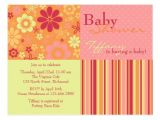 Pink and orange Baby Shower Invitations Flower Fizz Pink & orange • Baby Shower Invitation