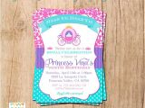 Pink and Teal Baby Shower Invitations Pink Teal and Purple Princess Invitation You Print